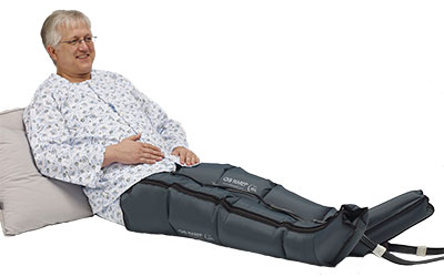 LX9 compression pump leg oedema