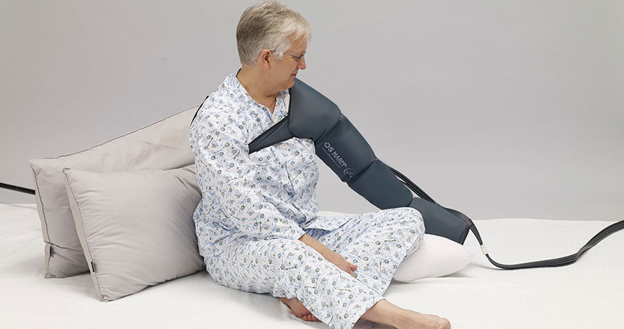 pneumatic compression arm garment